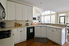 Painted Kitchen Cabinets Before and After   To Newlywedism and Beyond...