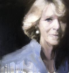 Duchess of Cornwall 2007 oil on linen 50x50cm private collection of  TRH The Prince of Wales and Duchess of Cornwall