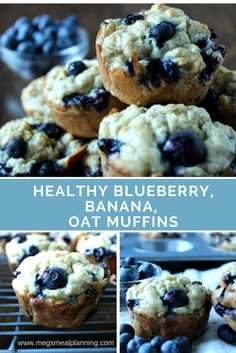 Healthy blueberry, banana, and oat muffins. No added sugar! Perfect on the go-sn. - Healthy blueberry, banana, and oat muffins. No added sugar! Perfect on the go-snacks! Blueberry Muffins For Baby, Baby Muffins, Healthy Cupcakes, Healthy Blueberry Muffins, Blueberry Banana Oatmeal Muffins, Sugar Free Muffins, Muffins For Babies, Healthy Muffins For Toddlers, Toddler Muffins