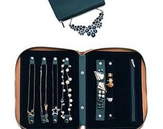 Travel Jewelry Organizer // Jewelry Case for Trips // Business Travel Gift // Best Travel Gift for Frequent Flier // Necklace Organizer