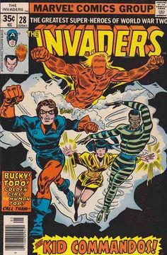 The Invaders #28. Calling the Kid Commandos!  First appearance of Kid Commandos (Team)