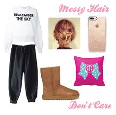 """""""😪Lazy Day #3😪"""" by inspiration-gal on Polyvore featuring Each X Other, UGG and Casetify"""