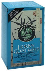 Triple Leaf Teas Horny Goat Weed Tea, 20.0 Each , Bag