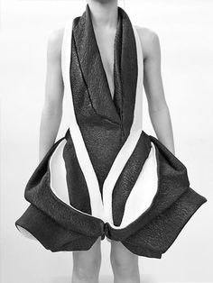 Sculptural Fashion - avant garde dress with exaggerated silhouette; 3D fashion…