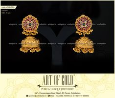 An intricately hand crafted Nakshi Jhumkas with Antique Kemp Studs. Browse our site for more Nakshi Jhumkas designs.