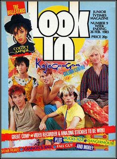 Kajagoogoo on the cover of a Look In magazine 1983