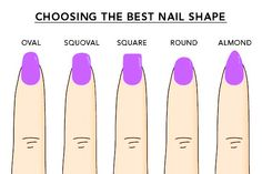Choosing the right nail shape can be tricky.. What shape do you prefer? <3