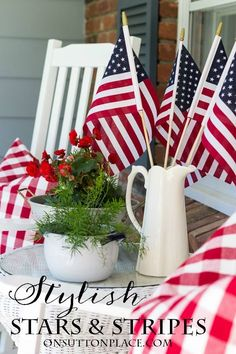 Easy Last Minute Patriotic Decor Ideas | Simple ways to add the red, white and blue to your decor! Not much planning required and super quick!