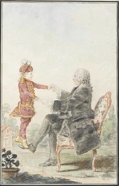 Mr Melin with his grandson,1759