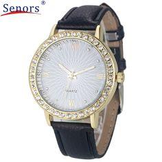 2016 Casual Women Watch Fashion Montre Women's Crystal Diamond Watches Analog Leather Quartz Watch Female Dress relogio feminino