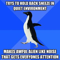 There is no meme I relate to more than the Socially Awkward Penguin