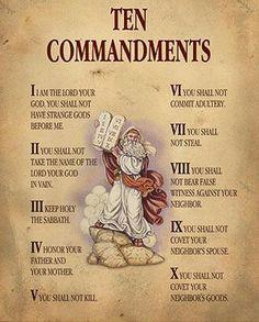 Ten Commandment poster. Also correlates with Roman Numeral math lesson.