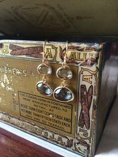 Hingham Harbor Earrings  Smoke Gray by adjewelry on Etsy
