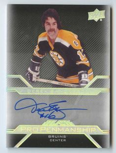 Hockey Cards, Baseball Cards, Bobby Orr, Boston Bruins Hockey, Ice Hockey Teams, Boston Sports, Penmanship, Patriots, Trading Cards