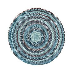 Capel Kill Devil Hill 0210CS425 Round Blue Area Rug ($1,008) ❤ liked on Polyvore featuring home, rugs, braided rugs, pile rug, round rugs, round area rugs and braided area rugs
