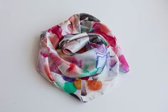 Watercolour Silk Scarf by MadeByEmilyGreen on Etsy, $119.00