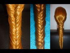 Fischgrätenzopf. ANLEITUNG für ANFÄNGER. Fishtail Braid Hairstyle.Trenzas - YouTube