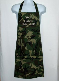Camouflage Camo Apron Men  Custom Funny Birthday Grandparent