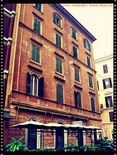 Colorful building in Rome, Italy