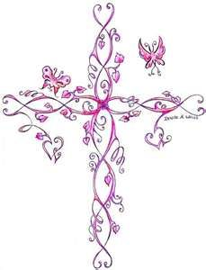 I like looking at and creating crosses. I like this one minus the butterflies.