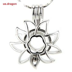 Lot of 5pcs! NEW SUNFLOWER cage pendant necklace for akoya pearl oyster #Elegantandcharming
