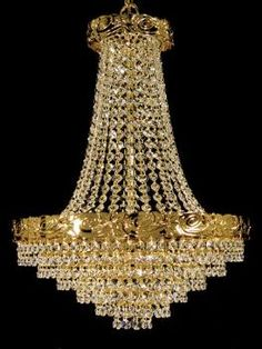 Crystal Chandelier (Crystal Chandeliers): Crystal chandelier manufactured in Spain by expert handcrafters. All the manufacturing process it is hand made as sons learned from fathers during . Gold Chandelier, Chandelier Lighting, Elegant Chandeliers, Crystal Chandeliers, Ceiling Lights, Crystals, Fathers, Sconces, Spain