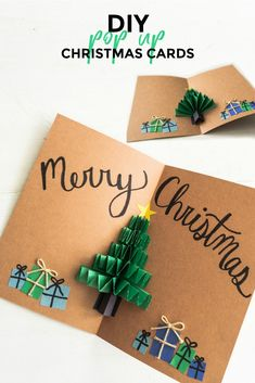 DIY Pop Up Christmas Cards - Sweet Some of the links in this post may be affiliate links which I can earn a small commission off if you click and purchase the item, at no extra cost to you. Pop Up Christmas Cards - Christmas Tree Card - Sweet Teal Pop Up Christmas Cards, Christmas Card Crafts, Homemade Christmas Cards, Xmas Cards, Christmas Decorations, Christmas Holiday, Reindeer Christmas, Christmas Sentiments, Cards Diy