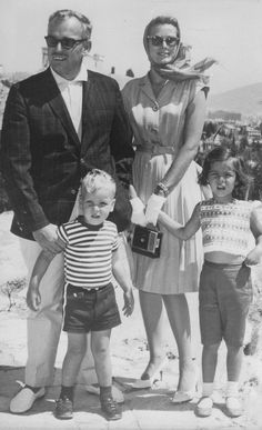 September 1961 ~ The Monegasque royal family in Greece as guests of shipping magnate Aristotle Onassis