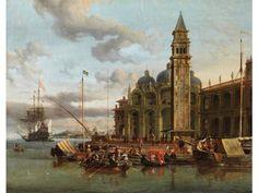 Abraham Jansz Storck, - um 1635 – 1710 - VENEDIG - CAPRICCIO MIT HANDELSSCHIFFEN [...], Beaux-Arts à Hampel Fine Art Auctions   Auction.fr