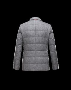 Moncler Herren GAMME BLEU Jacke Grau Wolle/Baumwolle
