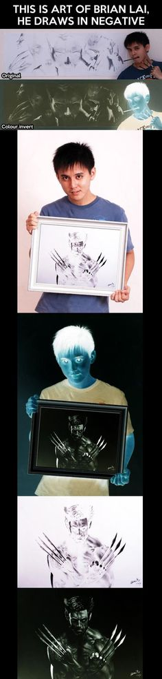 Inverted art, wow