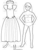 Free printable paper dolls - a huge range of paper dolls to print, cut , colour and enjoy - how fun!!