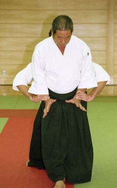 Morihiro Saito Sensei instructing at Tokyo seminar, 1991.