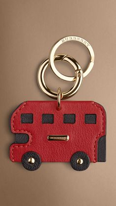London Bus Key Charm - iconic London bus leather key charm. Find the perfect gift this festive season at Burberry.com #burberrygifts #christmas