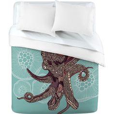 Valentina Ramos Octopus Bloom Duvet Cover