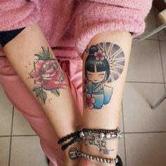 Kokeshi Tattoo, Intimate Tattoos, Doll Tattoo, Cool Tats, Kokeshi Dolls, Japan Art, Graffiti Art, Geisha, Tattoo Drawings