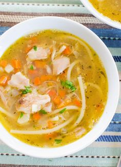 Slimming Eat Chicken Noodle Soup - gluten free, dairy free, paleo, Slimming World and Weight Watchers friendly Healthy Eating Tips, Healthy Nutrition, Healthy Recipes, Clean Eating, Healthy Soups, Healthy Detox, Savoury Recipes, Healthy Breakfasts, Child Nutrition