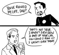 Tony and Howard Stark and The Ninjago Movie combine!