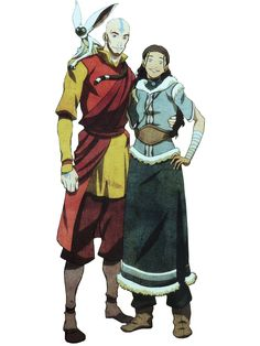 Adult aang and katara, avatar, legend of korra. nessie [pillow biting monster] · avatar: the last airbender fan art Legend, The Last Airbender, Animation, Art, Anime, Cartoon, Fan Art, Manga