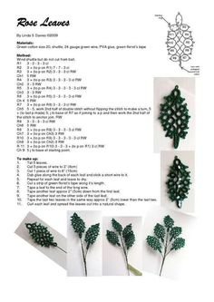 Rose Leaves by Linda Davies ... with tatting pattern .... www.tvn.hu_82aaff3dfe7806aa57da061f801ef9f8.jpg (595×842)