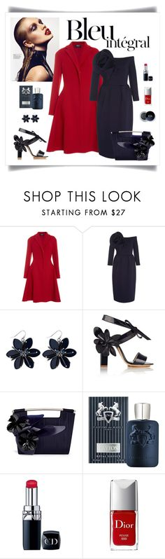 """Delpozo Flower Embellished Pencil Dress"" by romaboots-1 ❤ liked on Polyvore featuring Anja, Paule Ka, Delpozo, Parfums de Marly and Christian Dior"