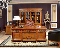 Image detail for -Italian Furniture - Majestic Italian Office Furniture Desk Bookcase