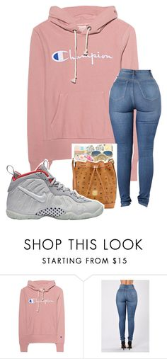 """school outfit"" by mynametay ❤ liked on Polyvore featuring Champion and NIKE"