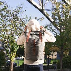 Saturdays | Backpack: Tanner Goods Salt & Pepper Wilderness Rucksack + Hoodie: Spellbound + Jeans: RRL Slim Fit | IG: @jeffdepano