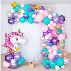 Shimmer and Confetti Premium 16-foot DIY Unicorn Balloon Arch and Garland Kit Rainbow Balloon Arch, Balloon Arch Diy, Balloon Garland, Balloon Decorations, Balloon Bouquet, Birthday Party Decorations, Confetti Balloons, White Balloons, Party Unicorn