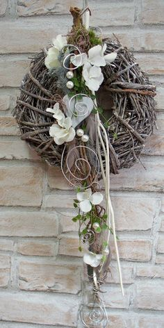 Big - picture for you Advent Wreath, Grapevine Wreath, Burlap Wreath, Christmas Wonderland, Diy Décoration, Diy Door, Large Flowers, Summer Wreath, Decorating Blogs