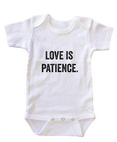 """Love is Patience"" Baby Onesie"