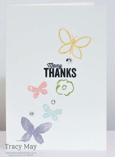 Stampin' Up! Garden In Bloom - Tracy Maym Bedlam & Butterfles