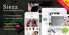 Siezz - Modern Multipurpose MarketPlace WordPress Theme (Mobile Layout Included) Template Download