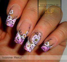 One stroke flowers #nail art
